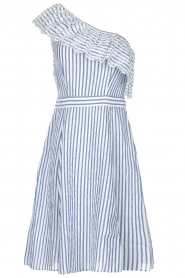 Freebird | Off-shoulder dress Britney | blue  | Picture 1