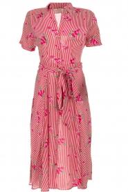Freebird |  Striped midi dress Flora | rood  | Picture 1