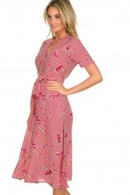 Freebird |  Striped midi dress Flora | rood  | Picture 4