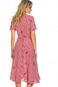 Freebird |  Striped midi dress Flora | rood  | Picture 5
