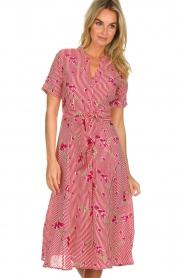 Freebird |  Striped midi dress Flora | rood  | Picture 2