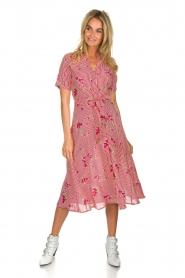 Freebird |  Striped midi dress Flora | rood  | Picture 3
