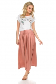 Not Shy | Maxi-rok Lucie | roze  | Afbeelding 4