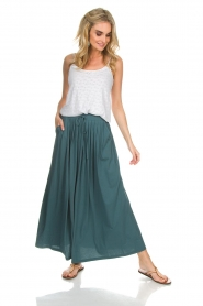 Not Shy | Maxi-rok Lucie | blauw  | Afbeelding 2