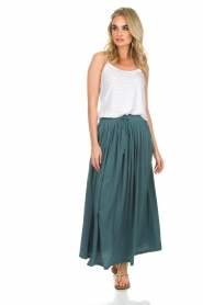 Not Shy | Maxi-rok Lucie | blauw  | Afbeelding 5