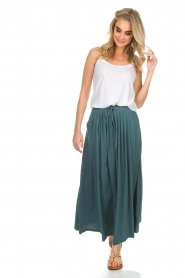 Not Shy | Maxi-rok Lucie | blauw  | Afbeelding 4