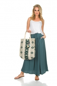 Not Shy | Maxi-rok Lucie | blauw  | Afbeelding 3