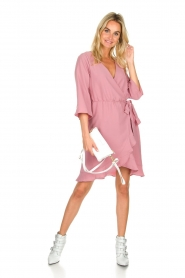 Freebird |  Wrap dress Presley | pink  | Picture 3