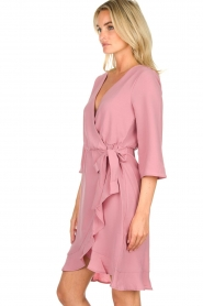 Freebird |  Wrap dress Presley | pink  | Picture 4