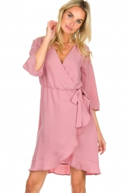Freebird |  Wrap dress Presley | pink  | Picture 2