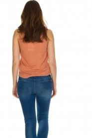 Not Shy | 100% linnen top Audrey | rood  | Afbeelding 4