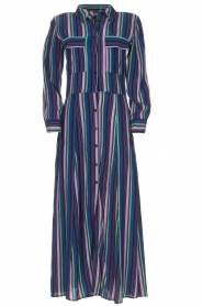 Freebird |  Striped maxi dress Gabriella | blue  | Picture 1