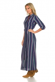 Freebird |  Striped maxi dress Gabriella | blue  | Picture 4
