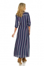 Freebird |  Striped maxi dress Gabriella | blue  | Picture 5