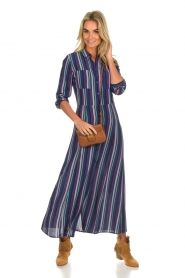 Freebird |  Striped maxi dress Gabriella | blue  | Picture 3
