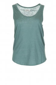 Not Shy |  100% linen top Audrey | blue  | Picture 1