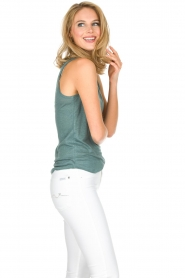 Not Shy |  100% linen top Audrey | blue  | Picture 3