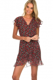Freebird |  Floral dress Rosy | black  | Picture 4
