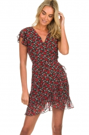 Freebird |  Floral dress Rosy | black  | Picture 2