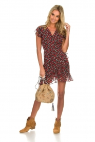 Freebird |  Floral dress Rosy | black  | Picture 3
