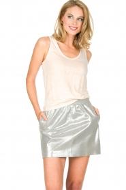 Not Shy | 100% linnen top Audrey | beige  | Afbeelding 2