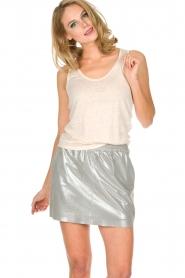 Not Shy | 100% linnen top Audrey | beige  | Afbeelding 4