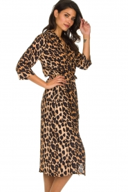 Freebird |  Midi dress with leopard print Victoria | animal print  | Picture 5