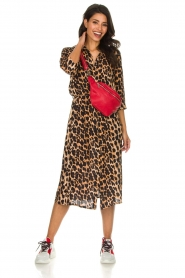 Freebird |  Midi dress with leopard print Victoria | animal print  | Picture 3