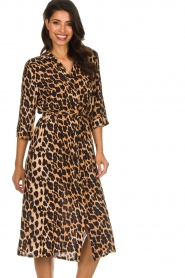 Freebird |  Midi dress with leopard print Victoria | animal print  | Picture 2
