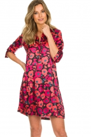 Freebird |  Floral dress Poppy | red  | Picture 2