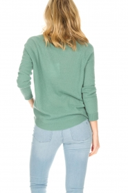 Not Shy | Kasjmieren trui Tallulah | groen  | Afbeelding 5