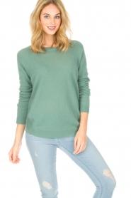 Not Shy | Kasjmieren trui Tallulah | groen  | Afbeelding 2