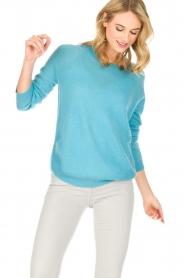 Not Shy | Kasjmieren trui Tallulah | blauw  | Afbeelding 2