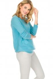 Not Shy | Kasjmieren trui Tallulah | blauw  | Afbeelding 3