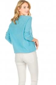 Not Shy | Kasjmieren trui Tallulah | blauw  | Afbeelding 4