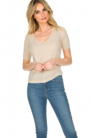 Not Shy |  Cashmere sweater Gatienne  | beige  | Picture 2