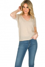 Not Shy |  Cashmere sweater Gatienne  | beige  | Picture 3
