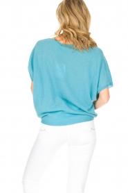 Not Shy | Kasjmieren top Francesca | blauw  | Afbeelding 5