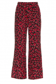 Lolly's Laundry |  Leopard printed wide leg pants Julia | print  | Picture 1