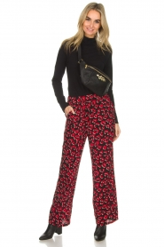 Lolly's Laundry |  Leopard printed wide leg pants Julia | print  | Picture 2
