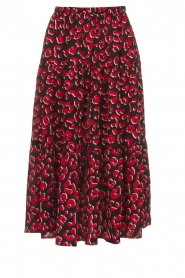 Lolly's Laundry |  Leopard printed midi skirt Morning | print  | Picture 1