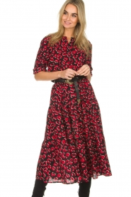 Lolly's Laundry | Wijde rok met rode panterprint Morning | print  | Afbeelding 2