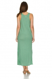 Not Shy |  Linen dress Pascale | green  | Picture 5
