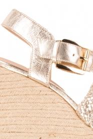 MICHAEL Michael Kors | Leren sandaal Giovanna | licht goud   | Afbeelding 6