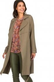 Arma |  Studio Ar wrap coat Gabine | green  | Picture 2