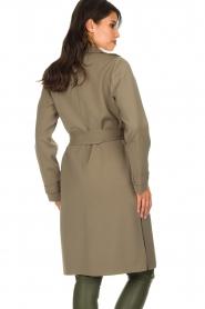 Arma |  Studio Ar wrap coat Gabine | green  | Picture 6