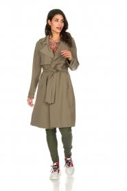 Arma |  Studio Ar wrap coat Gabine | green  | Picture 3