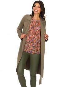 Arma |  Studio Ar wrap coat Gabine | green  | Picture 4
