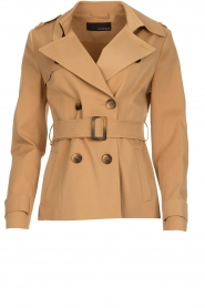 Arma |  Short trench coat Melanie | brown  | Picture 1