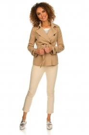 Arma |  Short trench coat Melanie | brown  | Picture 3